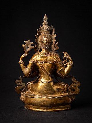 Oude bronzen Nepalese Chenrezig