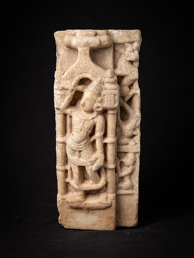 Antique marble figure from an Indian Jain temple