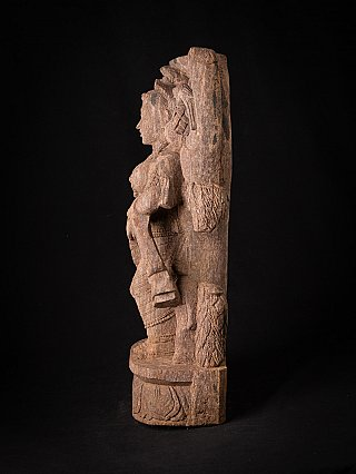 Old sandstone Indian Lady statue