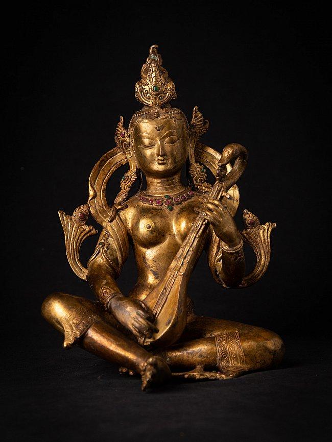 Old bronze Nepali Saraswati statue