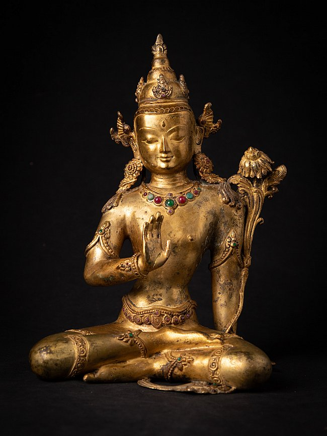 Old bronze Nepali Lokeswor statue