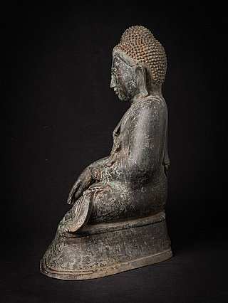 Alte bronze Mandalay Buddhafigur