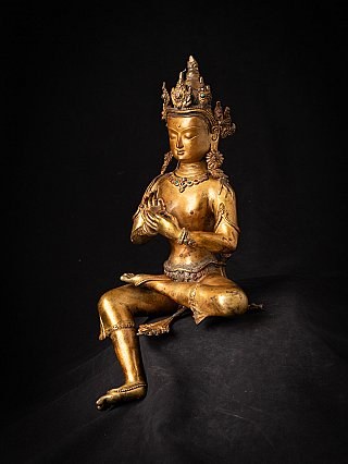 Old bronze Nepali Bodhisattva