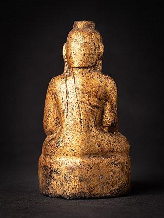 Antique wooden Burmese Buddha statue