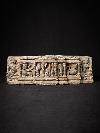 Antique fragment of an Indian temple