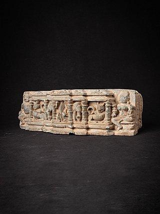 Antiek fragment van een Indiase tempel