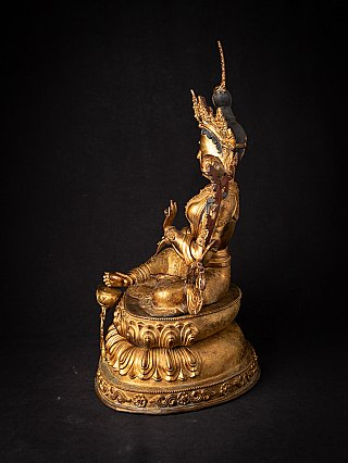 Large old bronze Nepali Green Tara statue