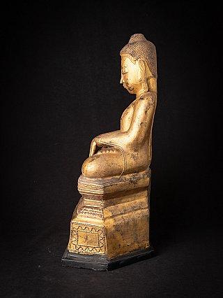 Antique Burmese lacquerware Buddha statue