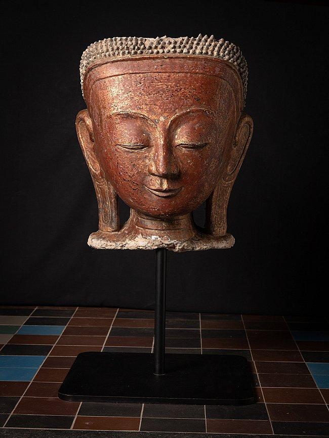 Large antique Stucco Buddha head