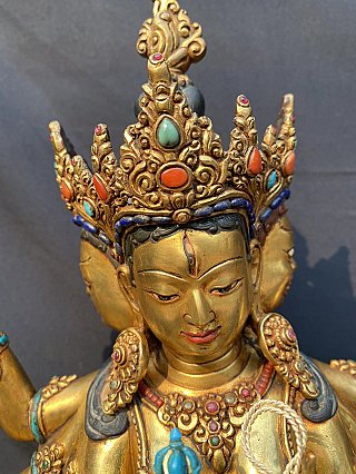 High quality old bronze Namgyal statue