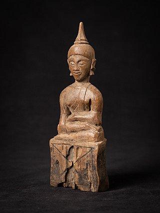 Antike holzerne Laos Buddhafigur
