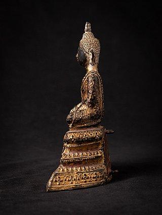 Antique bronze Thai Rattanakosin Buddha statue