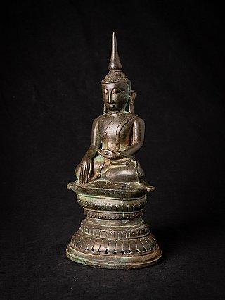Antique bronze Burmese Buddha statue
