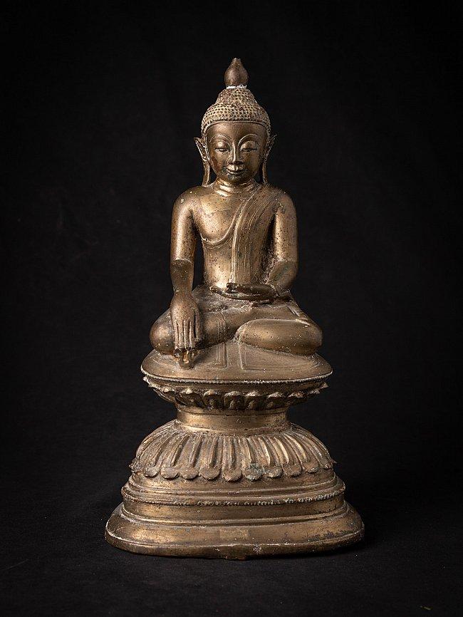 Antique bronze Burmese Shan Buddha statue