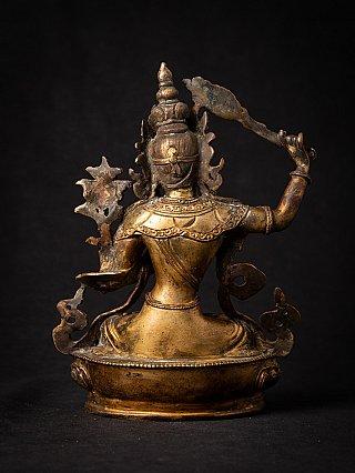 Old bronze gilded Nepali Manjushri