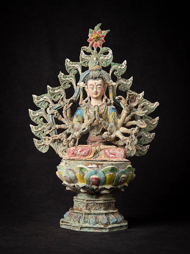 Alte Bronze chinesische Avalokiteshvara Figur