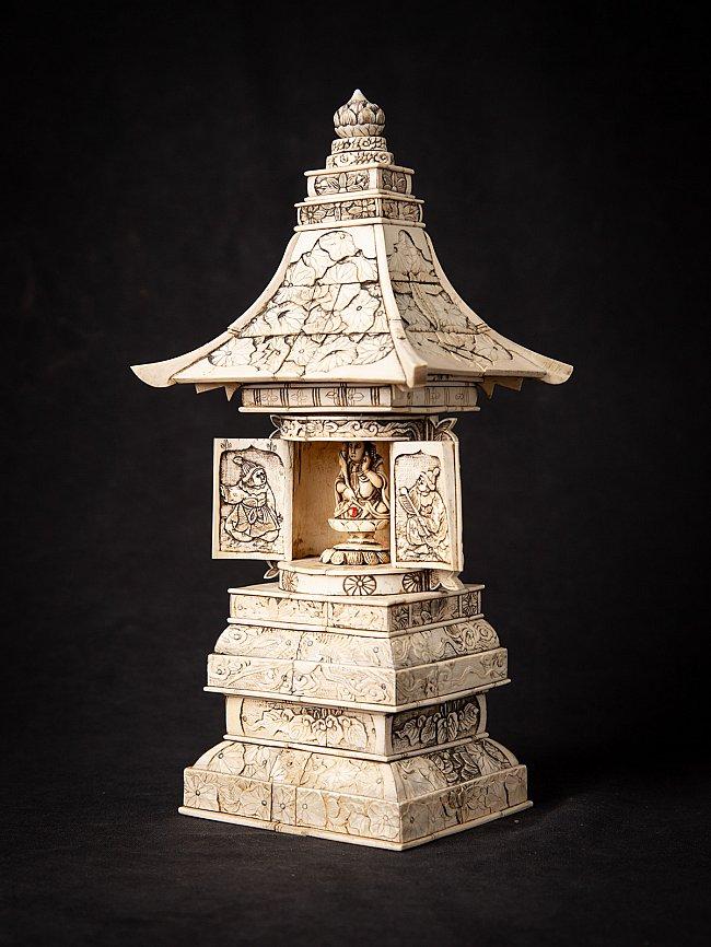 Antique ivory Japanese Zushi shrine