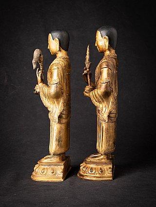 Old set of bronze Nepali Monk statues
