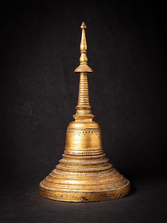 Antieke houten Birmese stupa