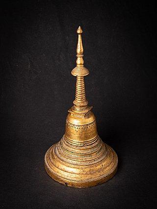 Antique wooden Burmese stupa