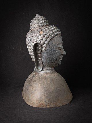 Large bronze Buddha head