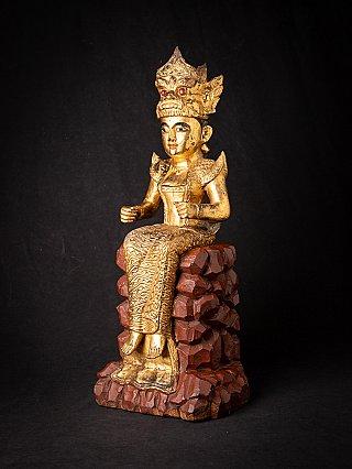 Antique wooden Burmese Nat - Popa Medaw