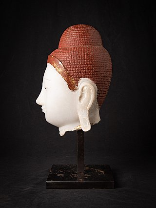 Special large antique marble Buddha head