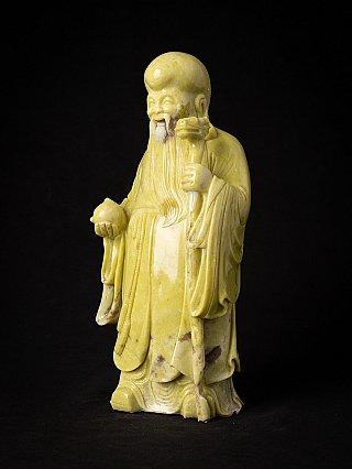 Old Chinese wooden Deity - Lao Zi - Lao Zi