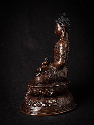 High quality bronze Nepali Medicine Buddha
