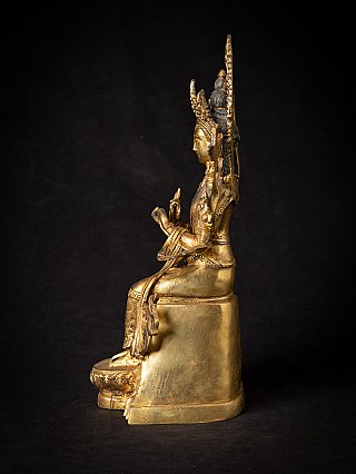 Bronze Nepali Maitreya Buddha statue