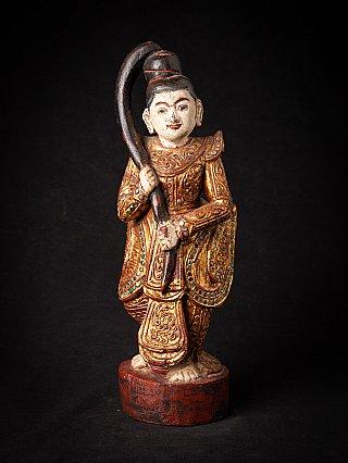 Old wooden Burmese Goddess