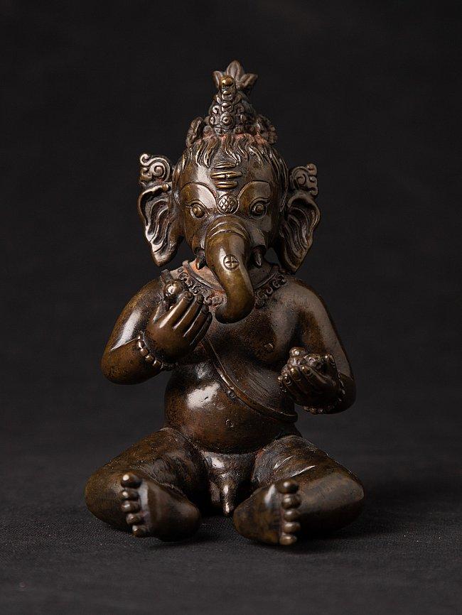 Old bronze Nepali Ganesha statue