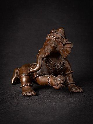 Oude bronzen Nepalese Ganesha