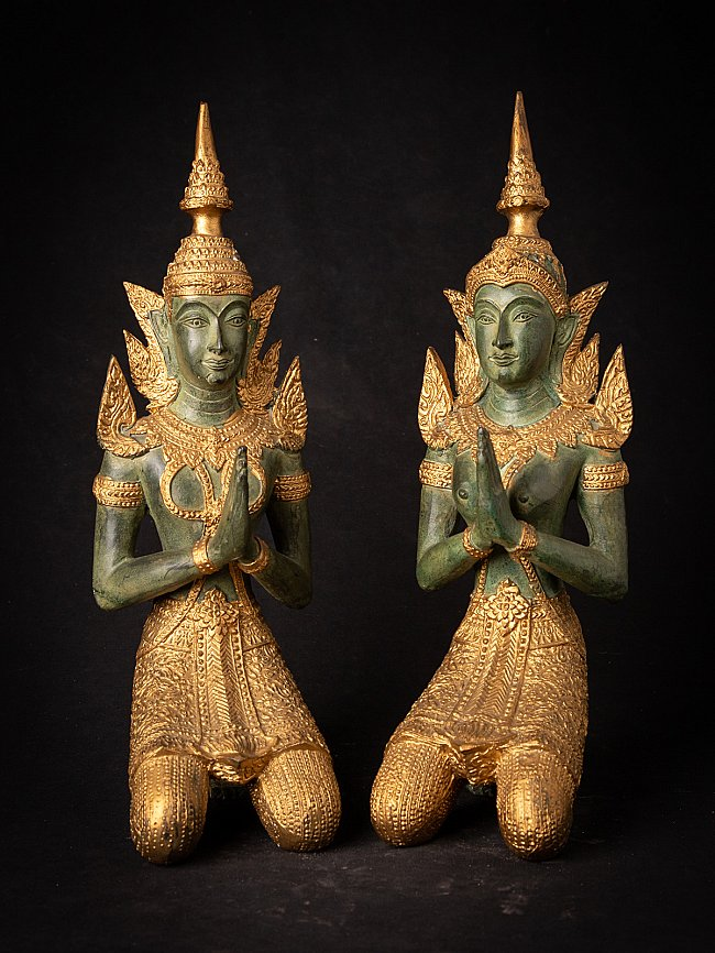 Set of bronze Thai Temple guards
