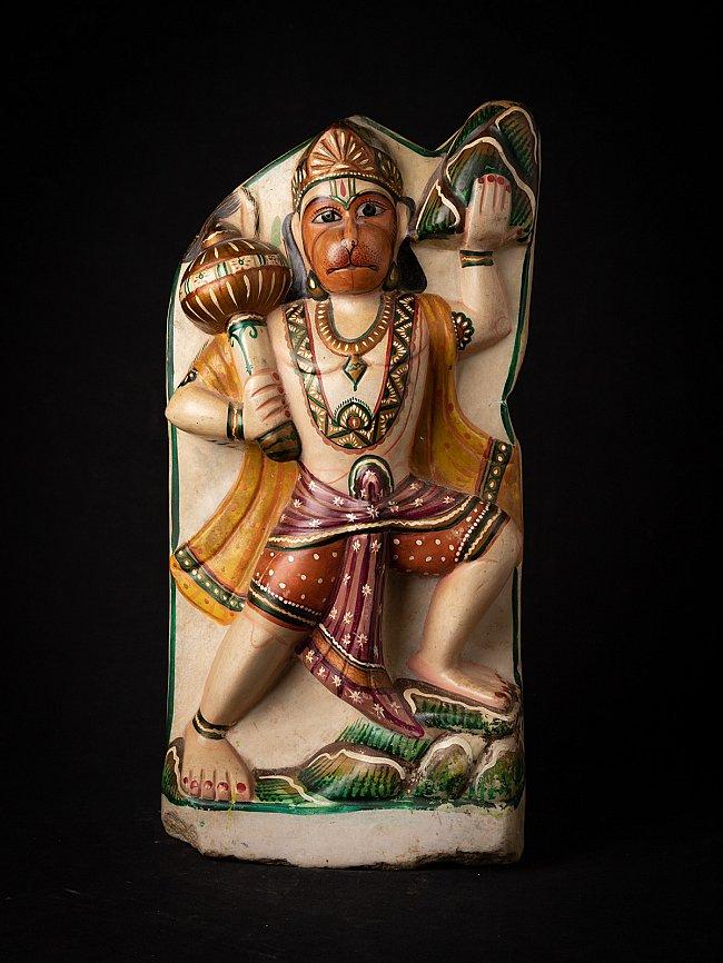 Old marble Hanuman statue