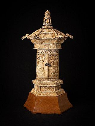 Special antique Ivory Japanese Zushi shrine