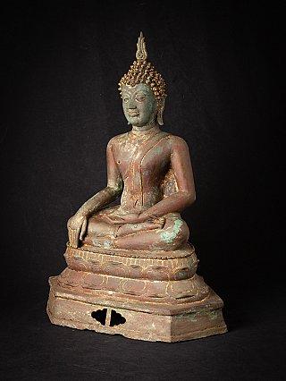 Antieke bronzen Thaise Sukhothai Boeddha