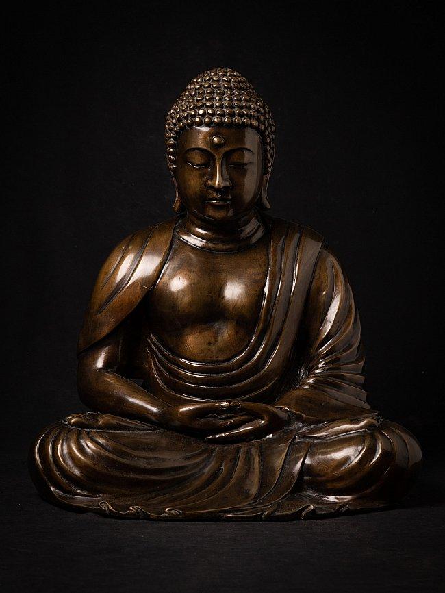 Bronze Japanese Amida Buddha statue