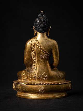 Alte bronze Buddhafigur aus Nepal