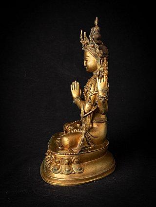 Old bronze Nepali Chenrezig statue