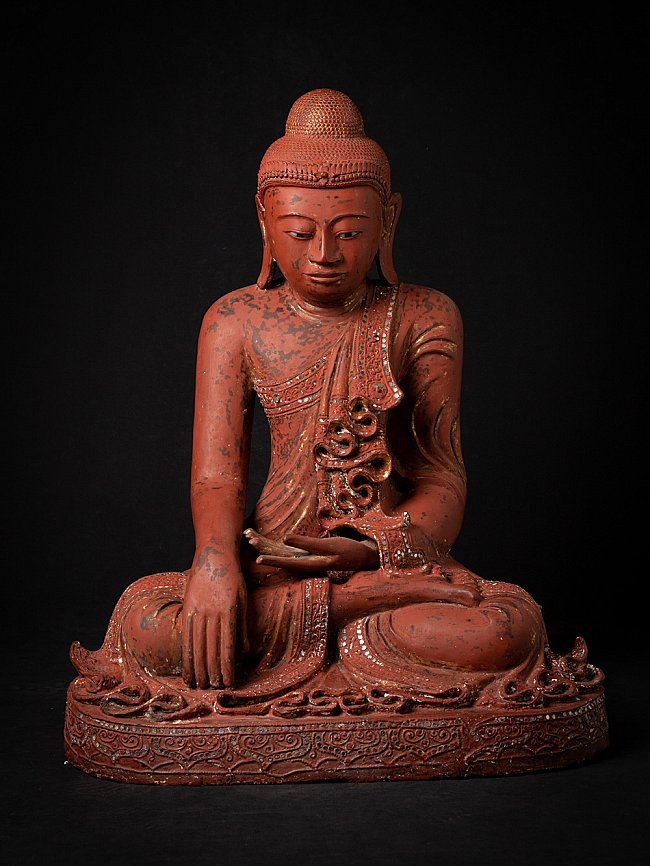 Old wooden Burmese Mandalay Buddha