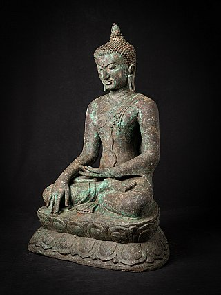 Alte bronze Burmesische Bagan Buddhafigur