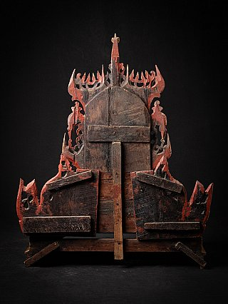 Old wooden Burmese Throne