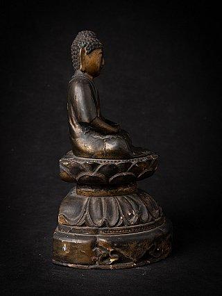 Antique wooden Japanese Amida Buddha