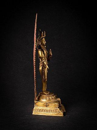 Old bronze Nepali Lokeshwor figure