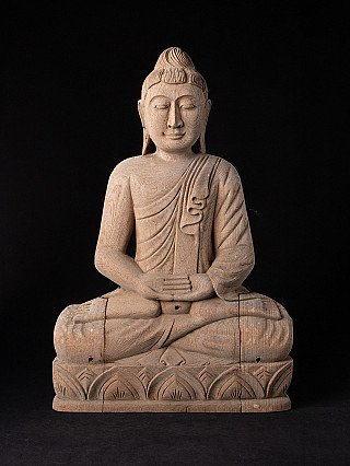 Old wooden Buddha panel