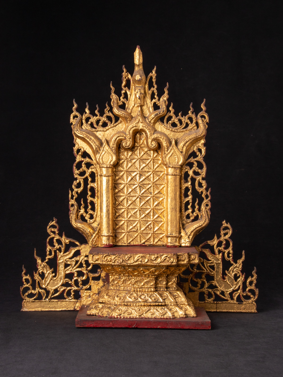 Antique Burmese Throne from Burma made from Bronze