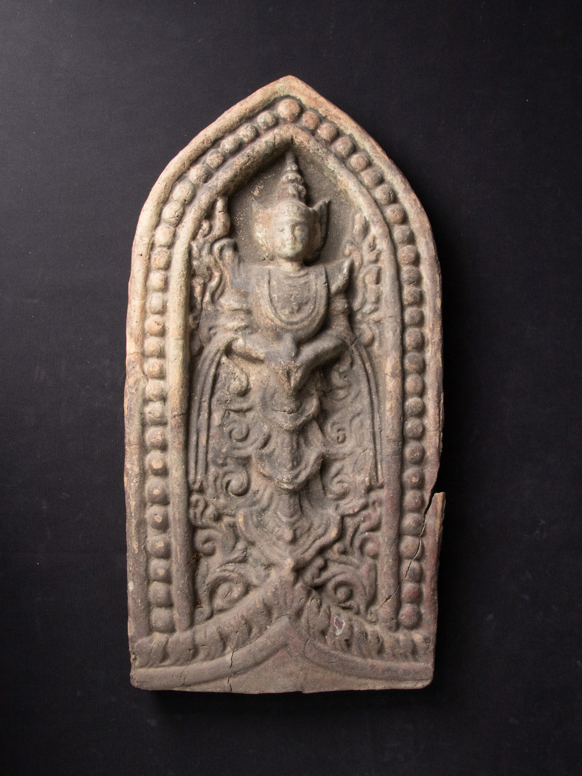 Antique terracotta panel from Burma made from Terracotta