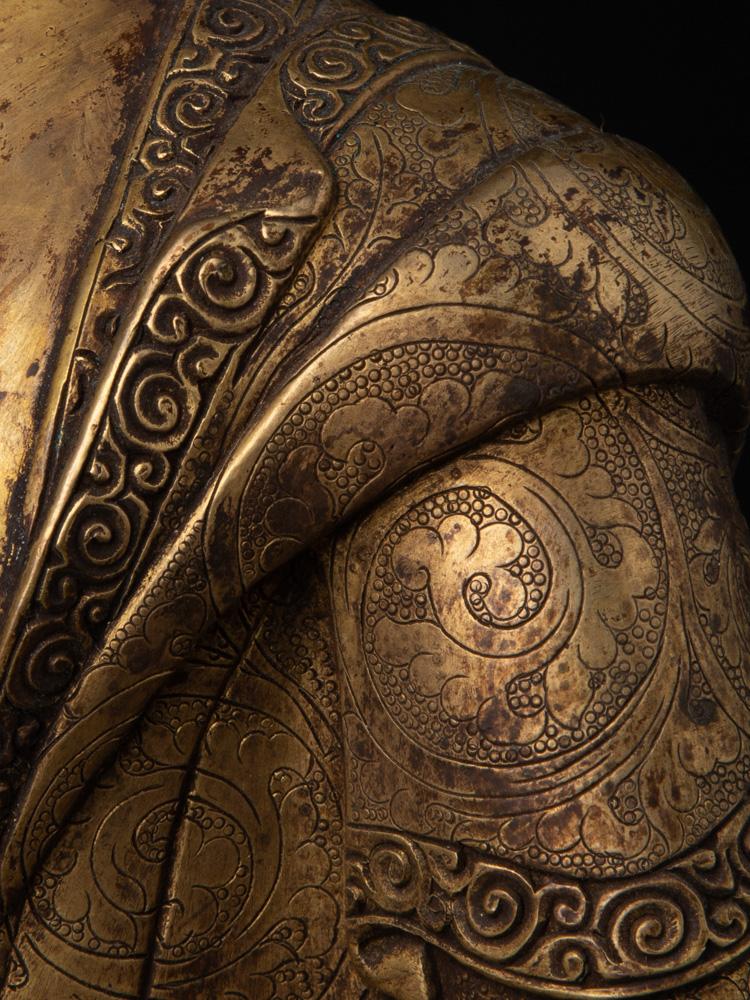 Oud Nepalees bronzen Boeddhabeeld