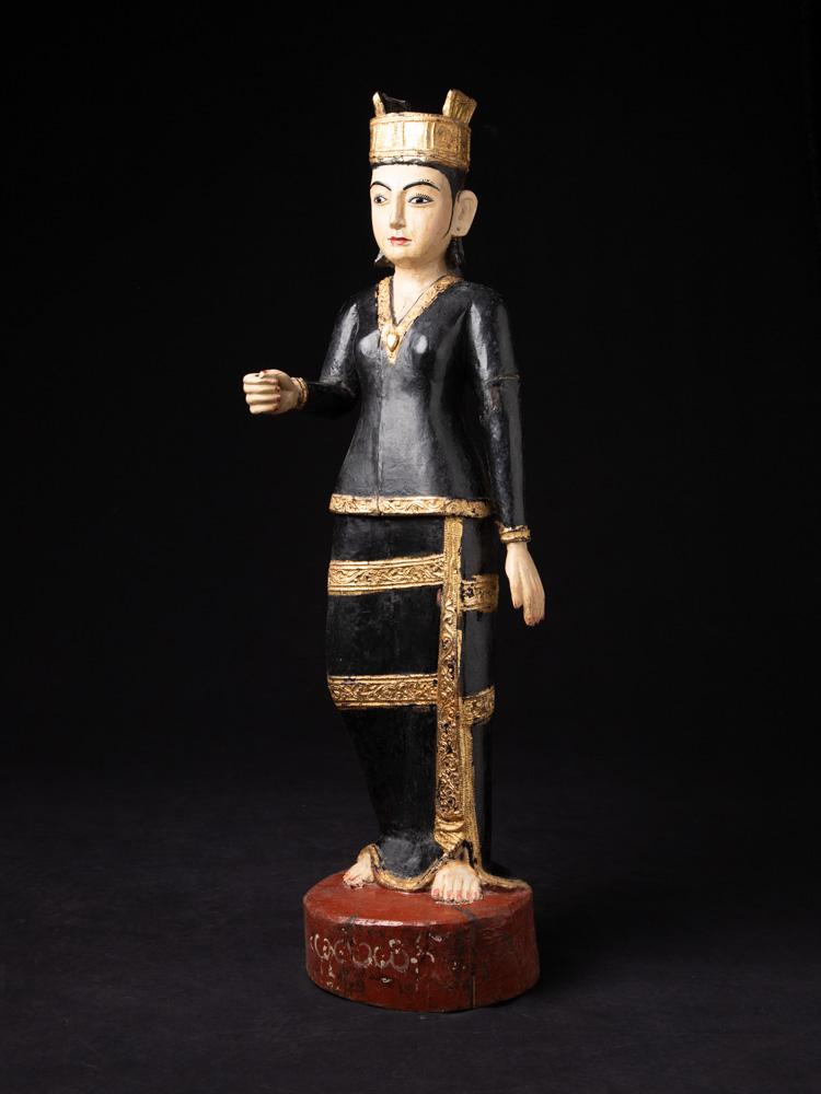 Antike holzerne Birmanische Nat Figur